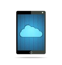 Hex cloud tablet vector image