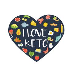 i love keto abstract concept vector image