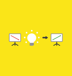 Icon concept of sales chart with arrow moving vector