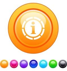 Information circle button vector