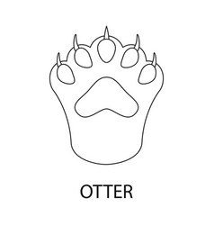 Isolated object otter and paw icon set of vector