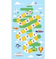 Kids world tour board game vector