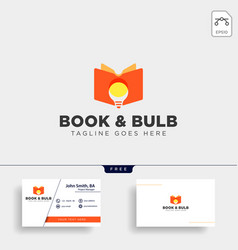 light bulb learning line logo template icon vector image