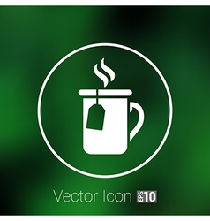 Logo cafe tea isolated decoration green cup vector