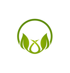 logo green leaf ecology nature element icon vector image