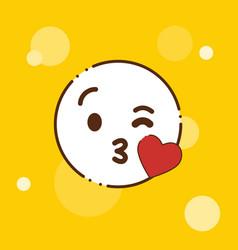 love emoji icon design vector image