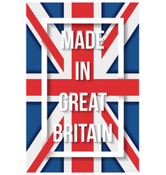 made in great britain flag poster vector image