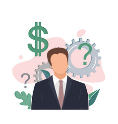 man thinking better business decision vector image