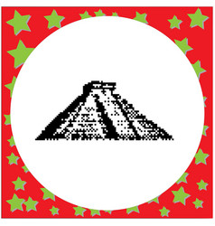 Mayan pyramid of kukulcan el castillo in chichen vector