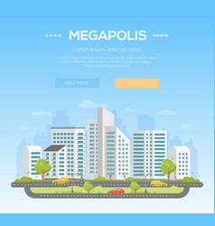 megapolis - modern vector image