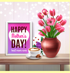 mothers day colored composition vector image