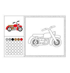 motorbike coloring book page template vector image