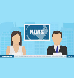 news anchor on tv vector image