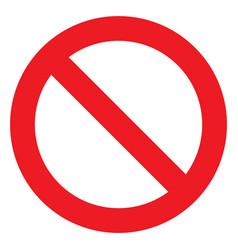 no sign ban icon stop symbol red circle vector image