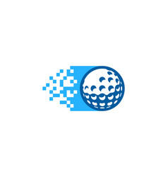 pixel golf logo icon design vector image