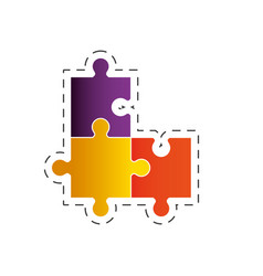 Puzzle solution strategy image vector