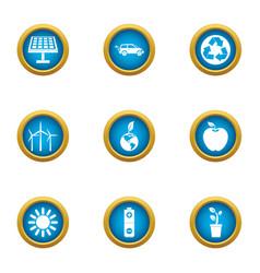 radiant icons set flat style vector image