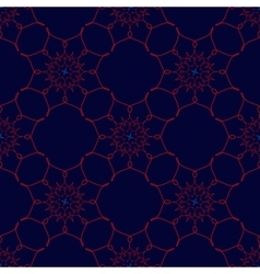 Red Arabic Vintage Ornament Patterned Design vector image