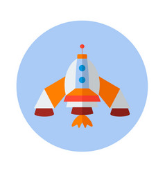 Rocket flat icon rocket icon e vector