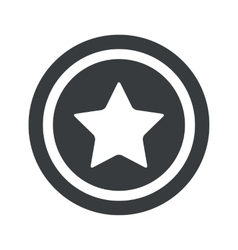 Round black star sign vector image