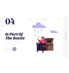 sad and desperate female character landing page vector image