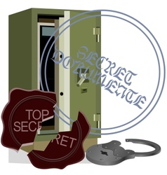 Safe cracking vector image