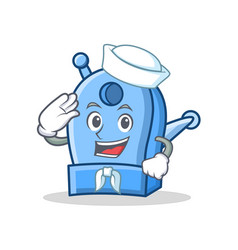 sailor pencil sharpener character cartoon vector image