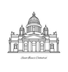 saint isaacs cathedral of petersburg vector image