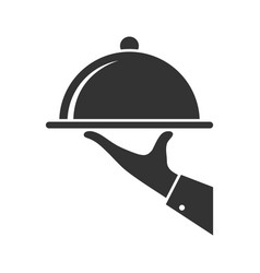 Serving food vector