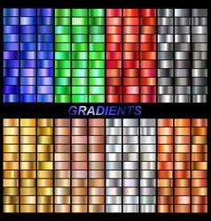 set gradients vector image