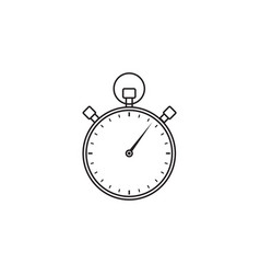 Stopwatch line icon timer for apps vector