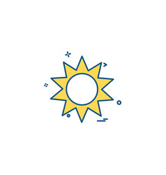 sun shine hot icon design vector image