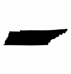 tennessee silhouette map vector image