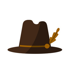 Tyrolean hat icon image vector