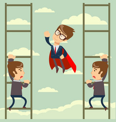 up the career ladder vector image