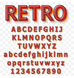 vintage alphabet font old style typeface vector image