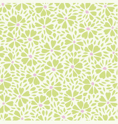 white green pattern with abstract flower vector image