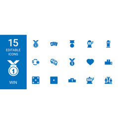 win icons vector image