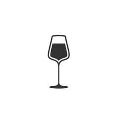 Wineglass icon flat vector