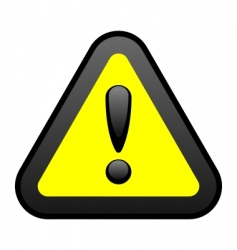 yellow warning sign vector image