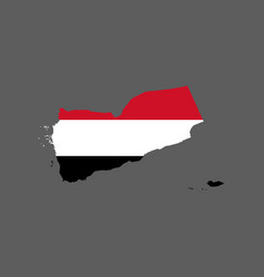 Yemen flag and map vector