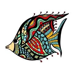 Zentangle stylized Fish vector image