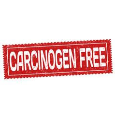 carcinogen free grunge rubber stamp vector image