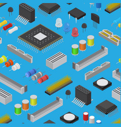 computer electronic circuit board component vector image
