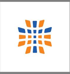 cross abstract sign logo vector image