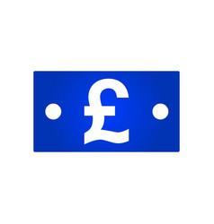 pound bill icon vector image