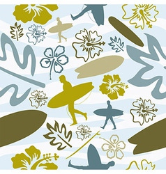 Summer Surfing seamless pattern vector image vector image