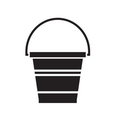 garden bucket icon vector image