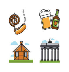 german attributes set with building types vector image vector image