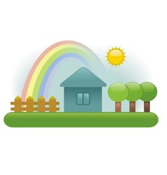 House fence tree vector image
